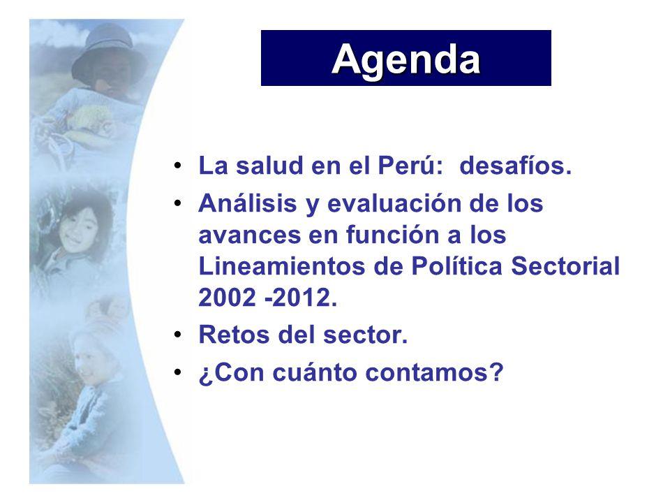 La salud en el Perú: desafíos. Análisis y evaluación de los avances en función a los Lineamientos de Política Sectorial 2002 -2012. Retos del sector.