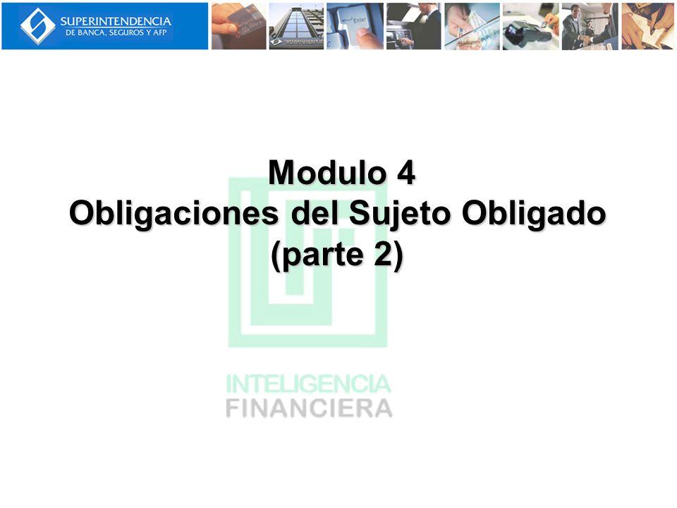 Modulo 4 Obligaciones del Sujeto Obligado (parte 2)