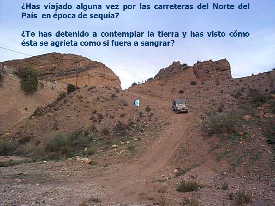 ¿Has viajado alguna vez por las carreteras del Norte del País en época de sequía.