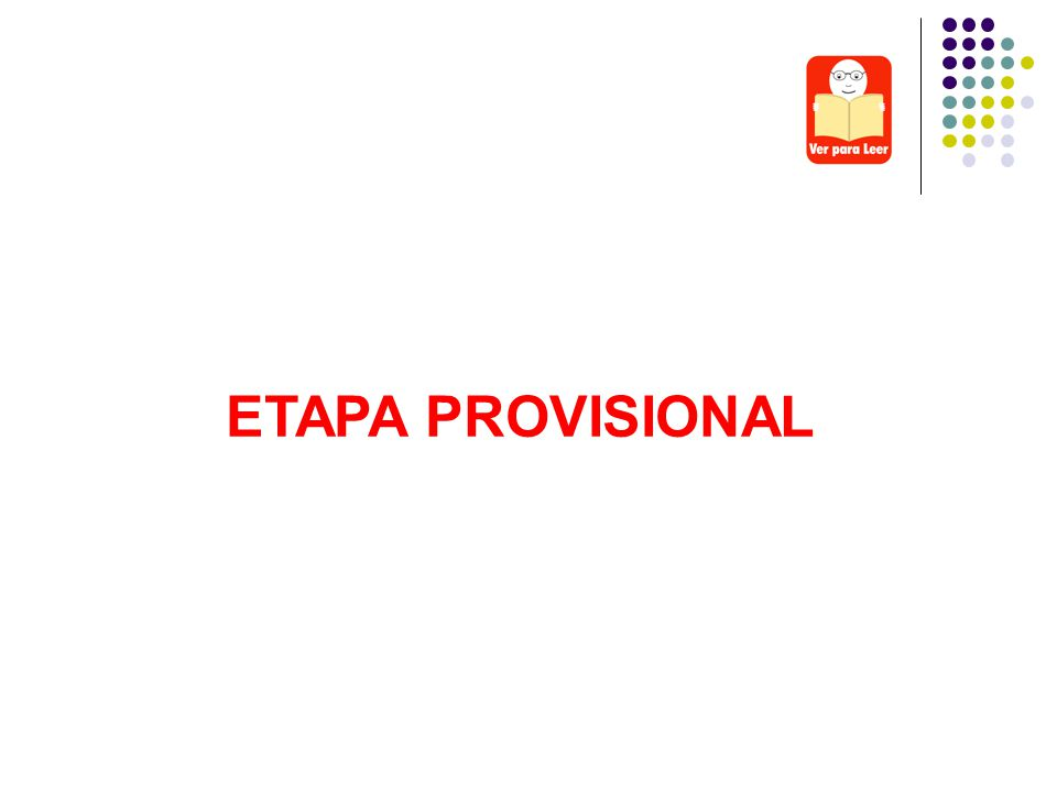 ETAPA PROVISIONAL