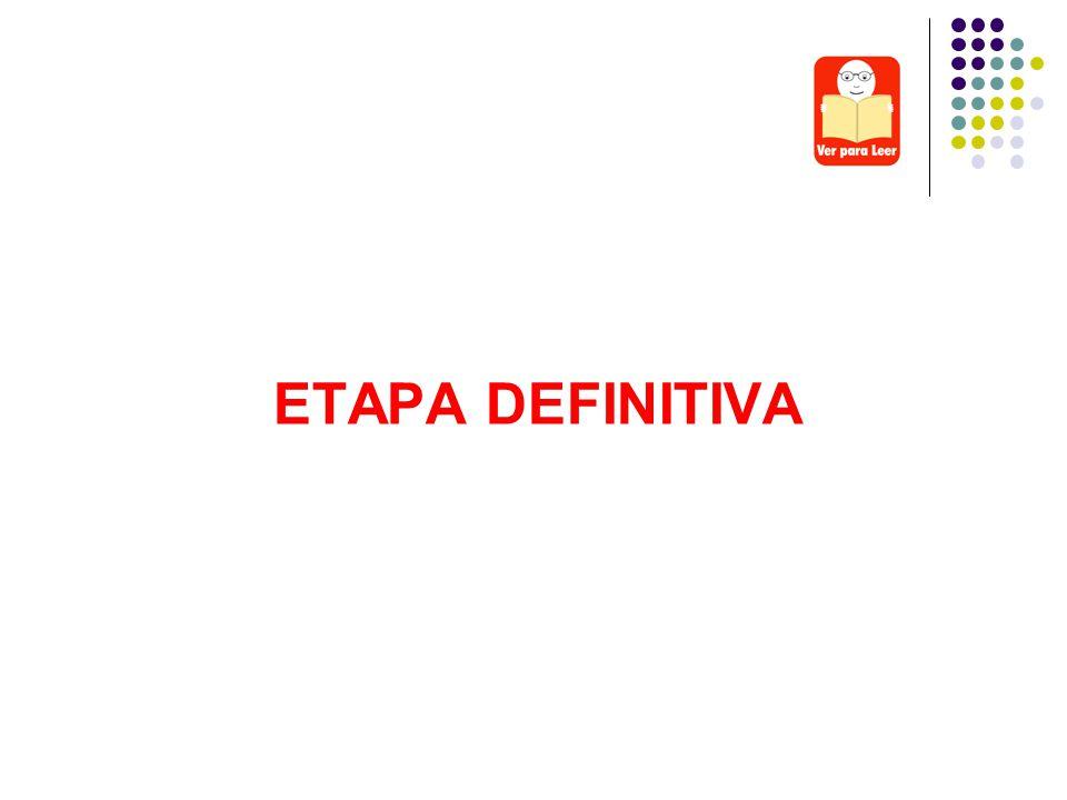 ETAPA DEFINITIVA