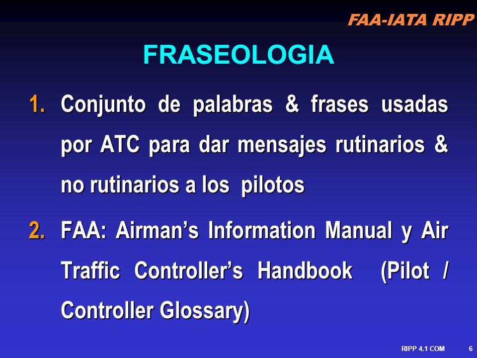FAA-IATA RIPP RIPP 4.1 COM7 3.