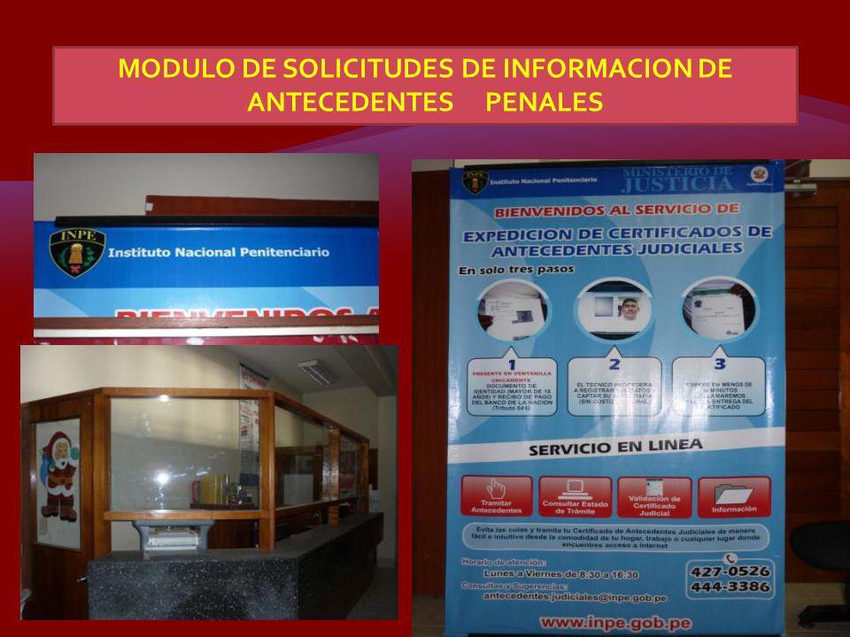 MODULO DE SOLICITUDES DE INFORMACION DE ANTECEDENTES PENALES