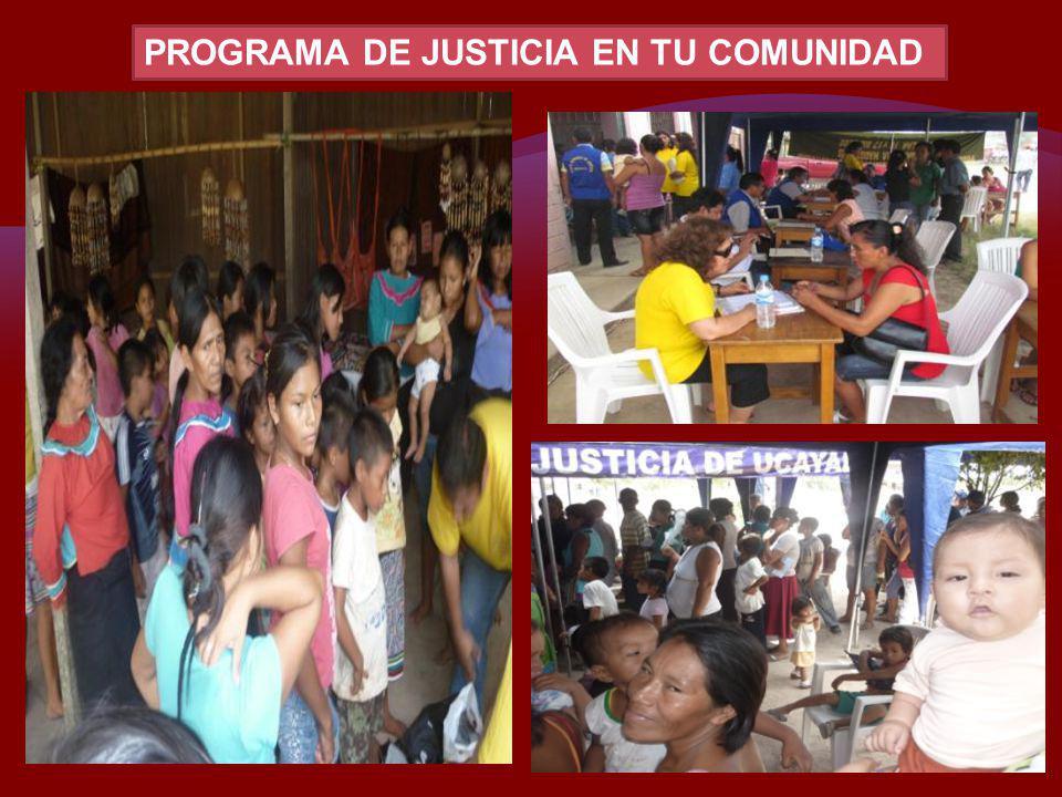PROGRAMA DE JUSTICIA EN TU COMUNIDAD
