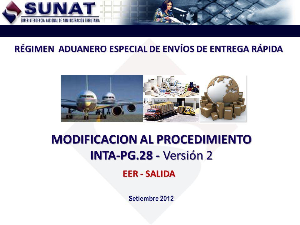 RECTIFICACION ELECTRONICA DEL MANIFIESTO EER VIGENCIA: 12/11/2012 4ta.