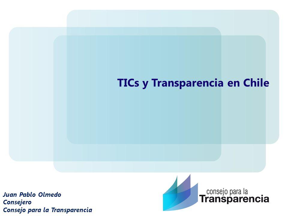 Juan Pablo Olmedo Consejero Consejo para la Transparencia TICs y Transparencia en Chile