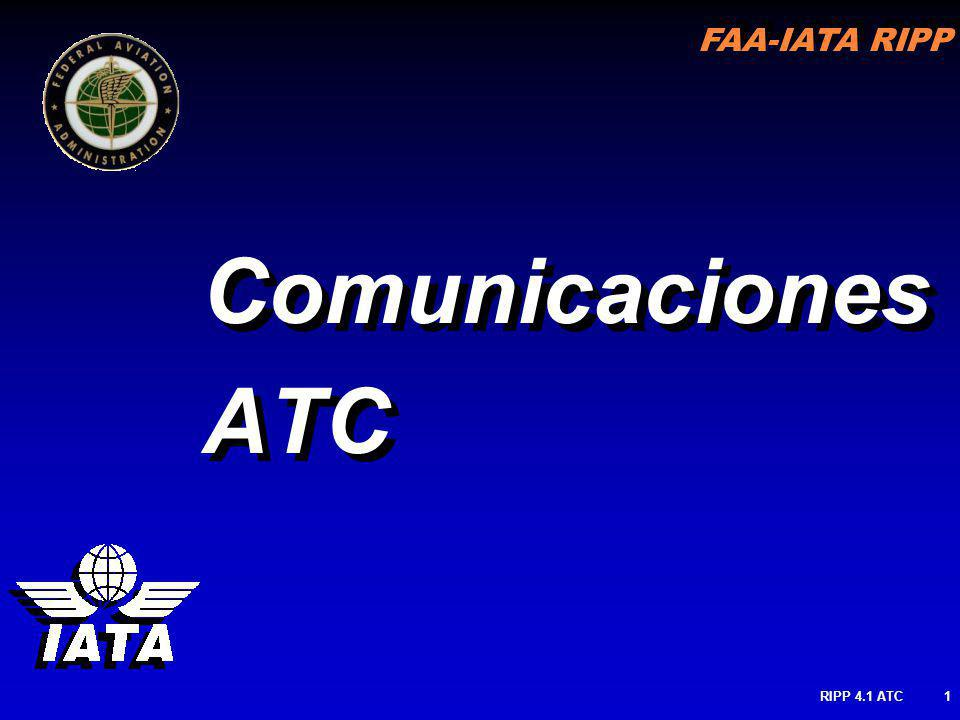 FAA-IATA RIPP RIPP 4.1 ATC1 Comunicaciones ATC