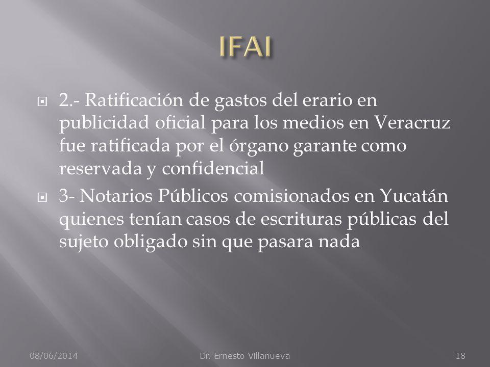 2.- Ratificación de gastos del erario en publicidad oficial para los medios en Veracruz fue ratificada por el órgano garante como reservada y confiden