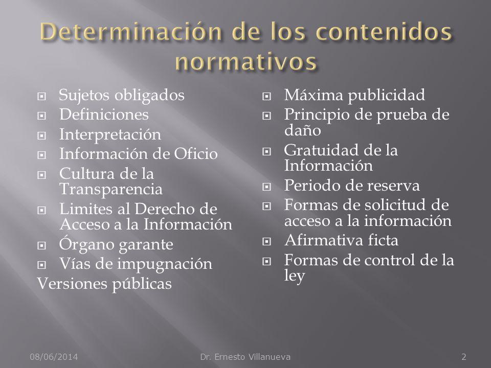 Sujetos obligados Definiciones Interpretación Información de Oficio Cultura de la Transparencia Limites al Derecho de Acceso a la Información Órgano g