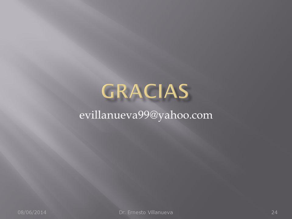 08/06/2014Dr. Ernesto Villanueva24 evillanueva99@yahoo.com