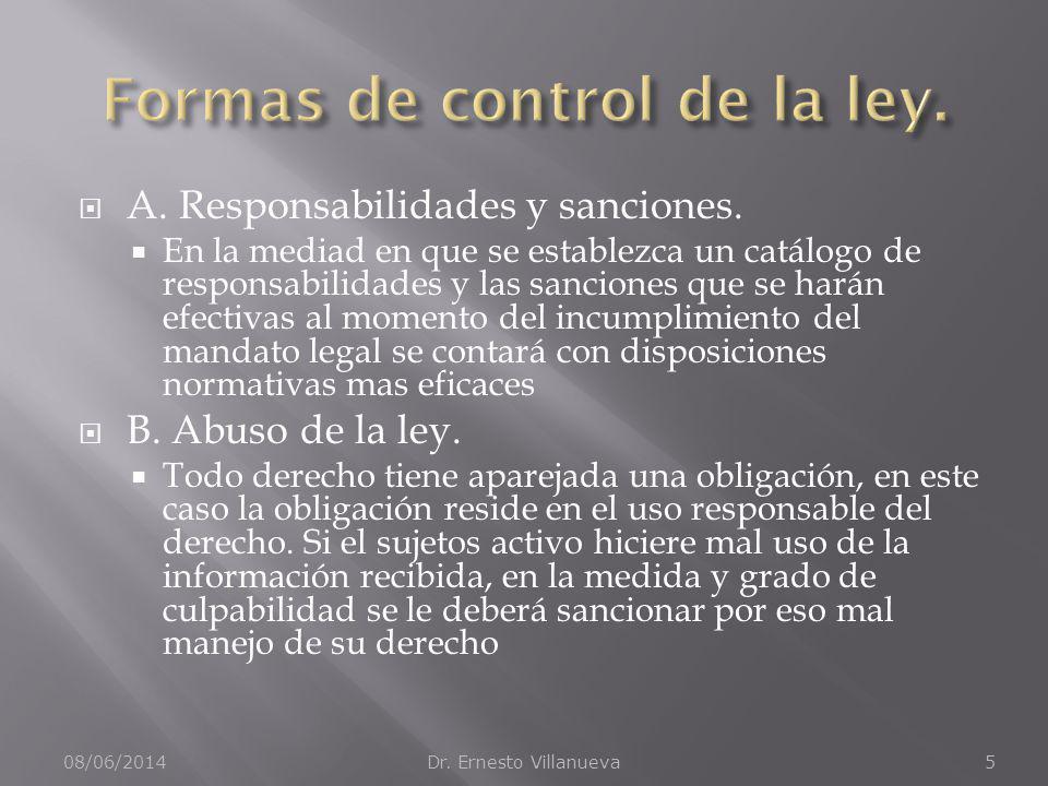 A.Responsabilidades y sanciones.