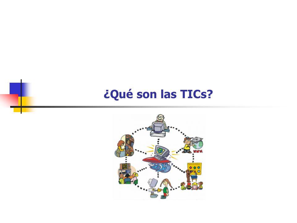 4 TICs Las tecnologías de información y comunicación (TICs) son un conjunto de técnicas, desarrollos y dispositivos avanzados que integran funcionalidades de almacenamiento, procesamiento y transmisión de datos.