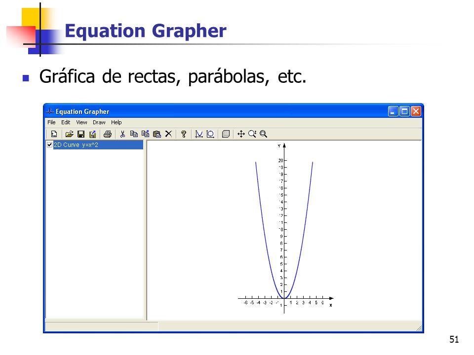 51 Equation Grapher Gráfica de rectas, parábolas, etc.