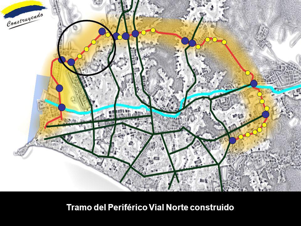 Tramo del Periférico Vial Norte construido