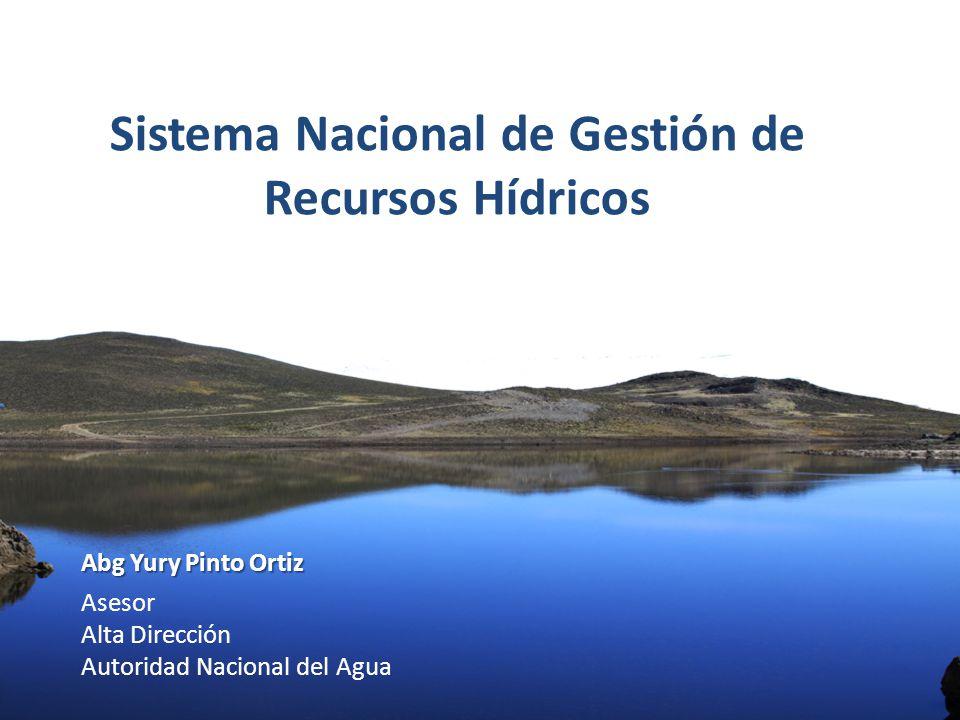 Autoridad Nacional el Agua Abg Yury Pinto Ortiz Asesor Alta Dirección Autoridad Nacional del Agua Sistema Nacional de Gestión de Recursos Hídricos