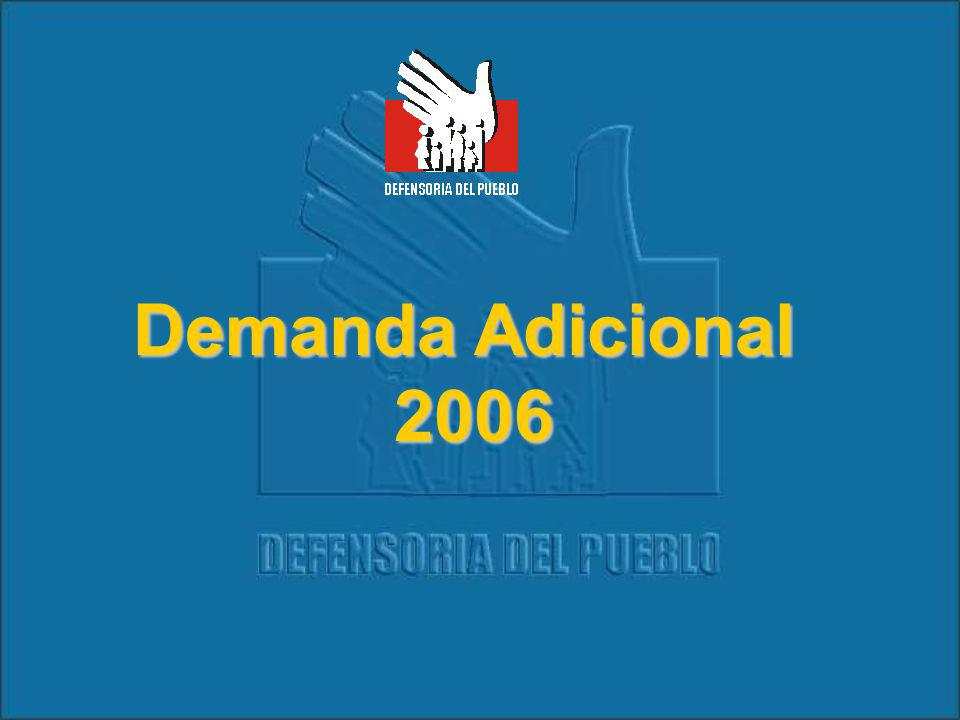 Demanda Adicional 2006 2006