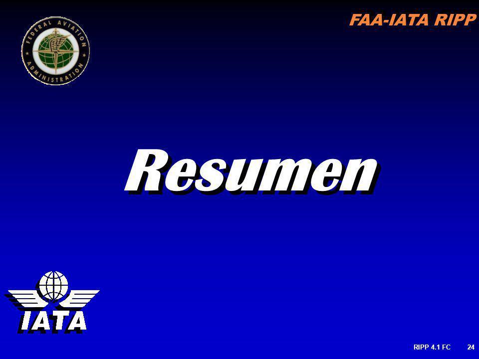 FAA-IATA RIPP RIPP 4.1 FC24 Resumen