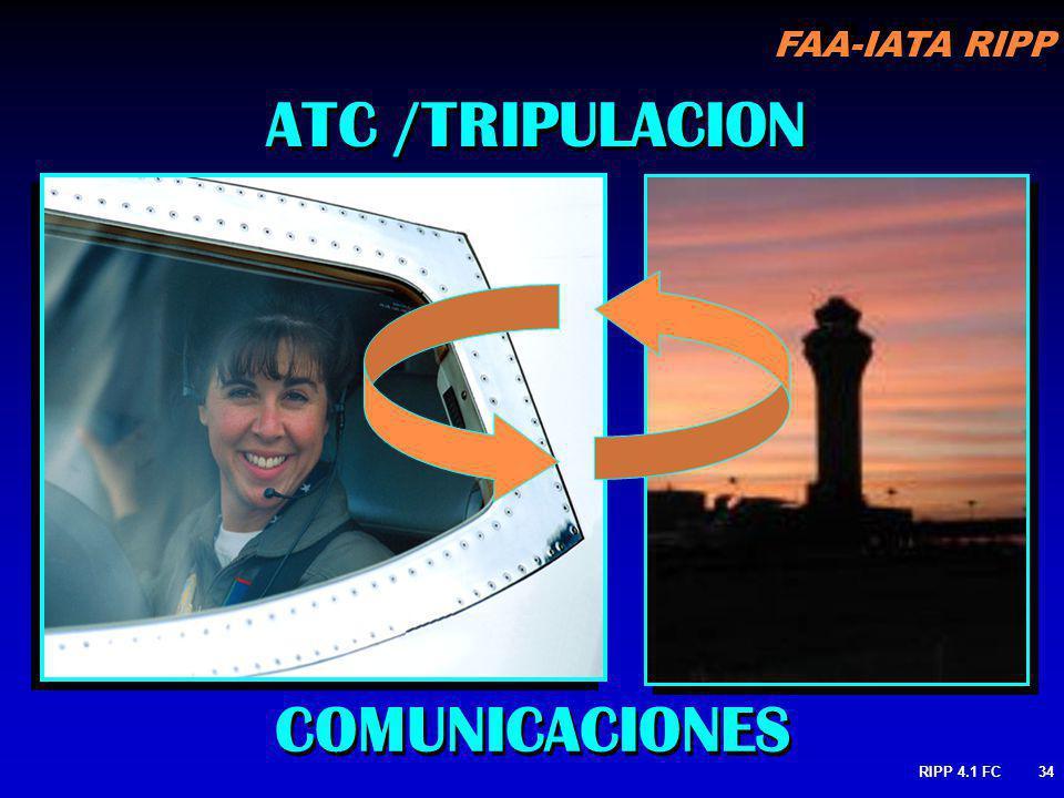 FAA-IATA RIPP RIPP 4.1 FC34 ATC /TRIPULACION COMUNICACIONES
