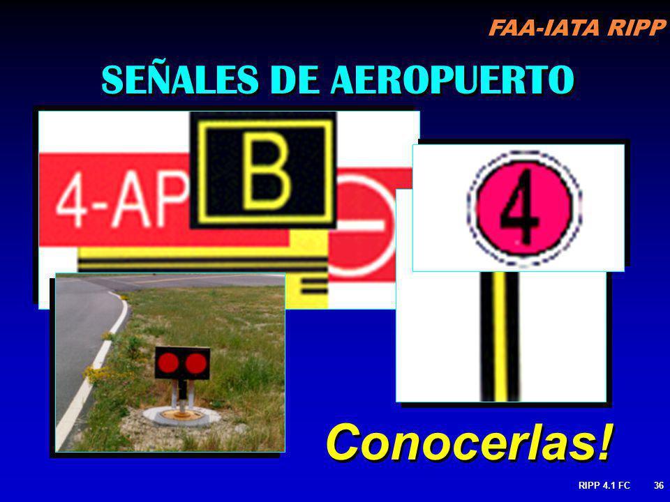 FAA-IATA RIPP RIPP 4.1 FC36 SEÑALES DE AEROPUERTO Conocerlas!