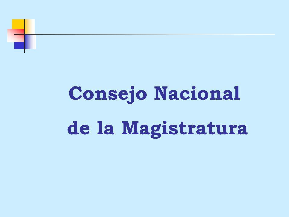 PROYECTO DE PRESUPUESTO 2005 Pliego: 021 CONSEJO NACIONAL DE LA MAGISTRATURA
