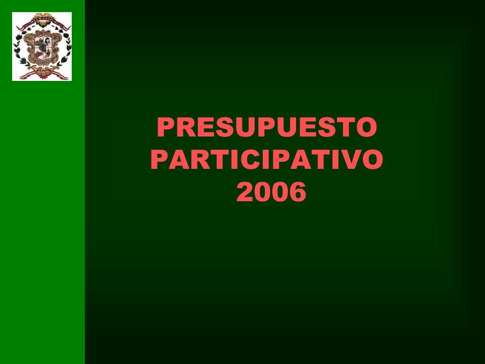 PRESUPUESTO PARTICIPATIVO 2006
