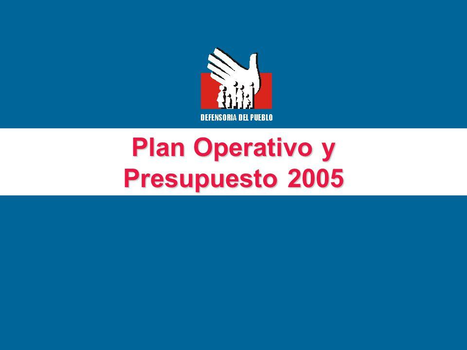 Plan Operativo y Presupuesto 2005