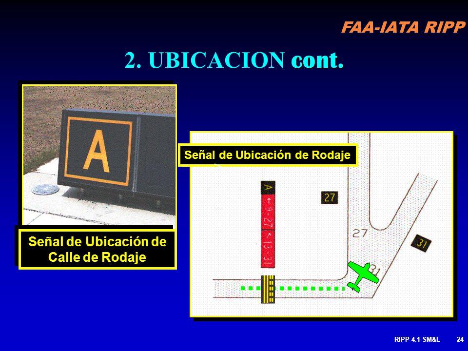 FAA-IATA RIPP RIPP 4.1 SM&L23 Identifica la calle de rodaje en la que el A/C o vehículo esta ubicado Puede también ser usado para designar una pista e