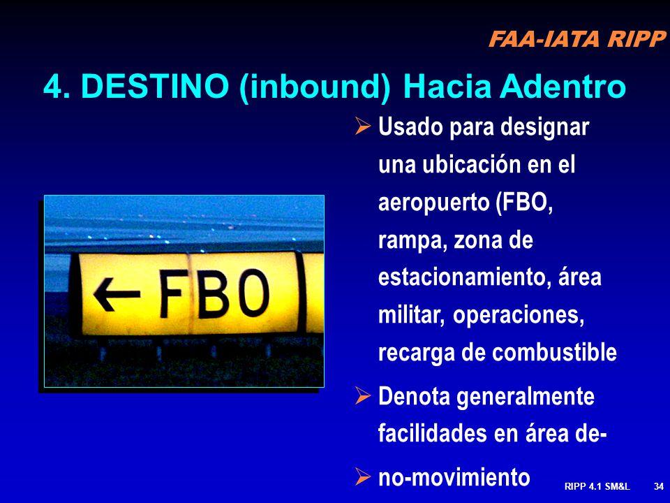 FAA-IATA RIPP RIPP 4.1 SM&L33 Direcciones a Pistas 32L & 35 4. DESTINO cont.