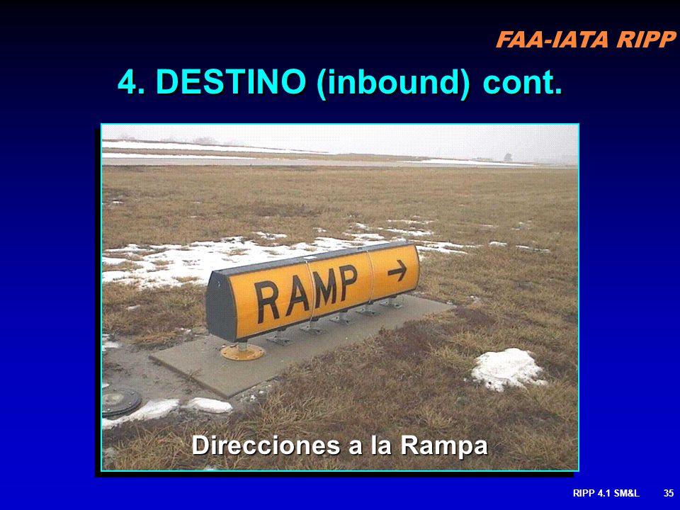 FAA-IATA RIPP RIPP 4.1 SM&L34 Usado para designar una ubicación en el aeropuerto (FBO, rampa, zona de estacionamiento, área militar, operaciones, reca