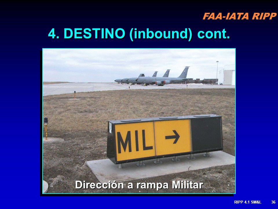 FAA-IATA RIPP RIPP 4.1 SM&L35 Direcciones a la Rampa 4. DESTINO (inbound) cont.