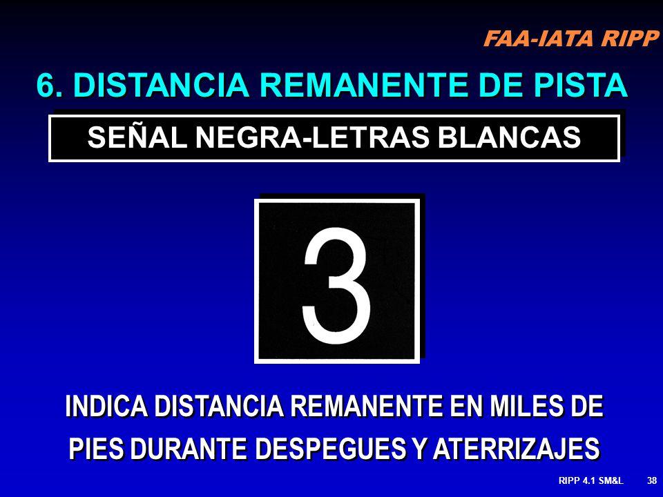FAA-IATA RIPP RIPP 4.1 SM&L37 FREQUENCIAS DE RADIO PROCEDIMIENTOS DE EVITAMIENTO DE RUIDOS, ETC. 118.3 5. INFORMACION SEÑAL AMARILLA-LETRAS NEGRAS