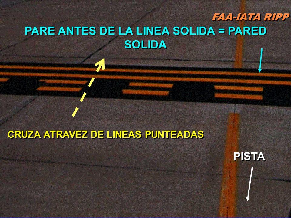 FAA-IATA RIPP RIPP 4.1 SM&L49 Requieren material reflectante & resaltado en negro para contraste en pavimento claro & aeropuertos con torre MANTENGA a