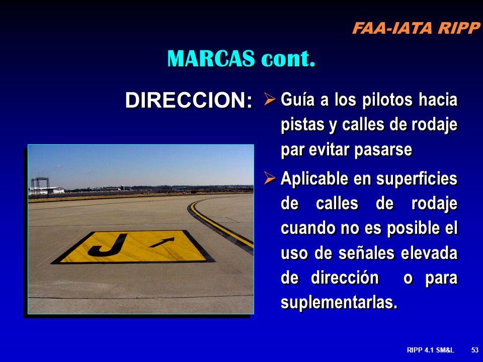RIPP 4.1 SM&L52 Estas en un punto espera o saliendo de una pista? Respuesta: Estas en un punto de espera FAA-IATA RIPP