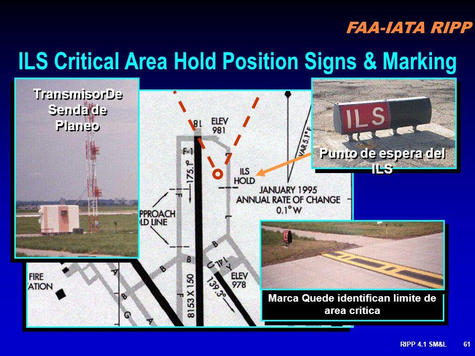 FAA-IATA RIPP RIPP 4.1 SM&L60 ENTRANDO EL AREA CRITICA DEL ILS LIMITE DE SEÑAL DE EL AREA CRITICA DEL ILS
