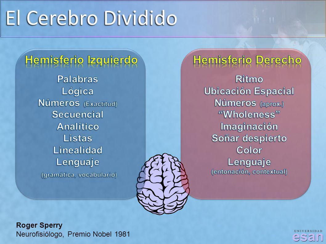 El Cerebro Dividido Roger Sperry Neurofisiólogo, Premio Nobel 1981