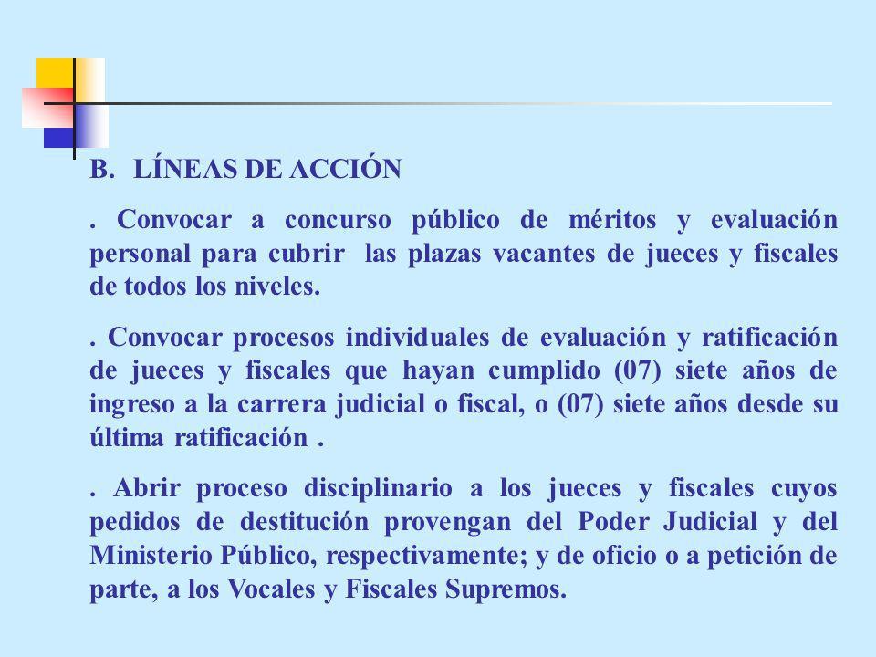 B.LÍNEAS DE ACCIÓN.