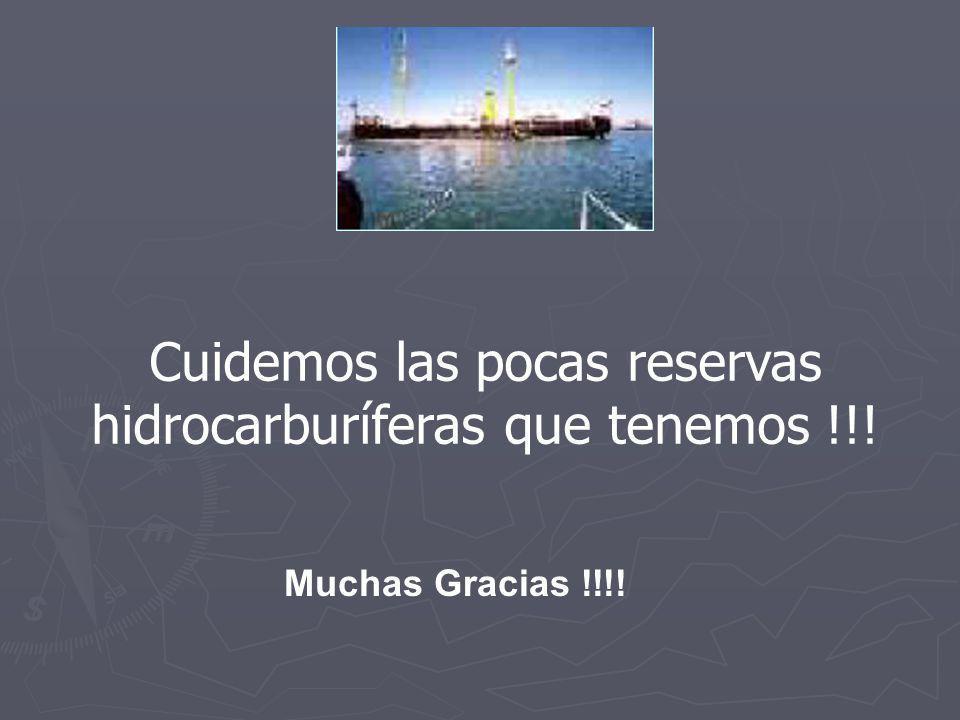 Muchas Gracias !!!! Cuidemos las pocas reservas hidrocarburíferas que tenemos !!!