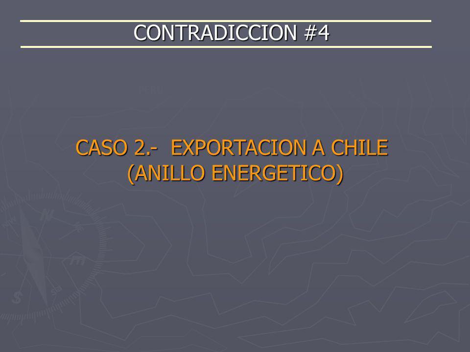 CONTRADICCION #4 PERÚ CASO 2.- EXPORTACION A CHILE (ANILLO ENERGETICO)