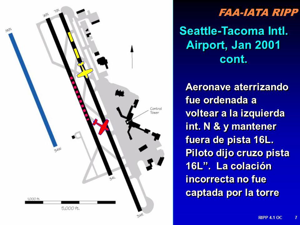 FAA-IATA RIPP RIPP 4.1 OC7 Aeronave aterrizando fue ordenada a voltear a la izquierda int.