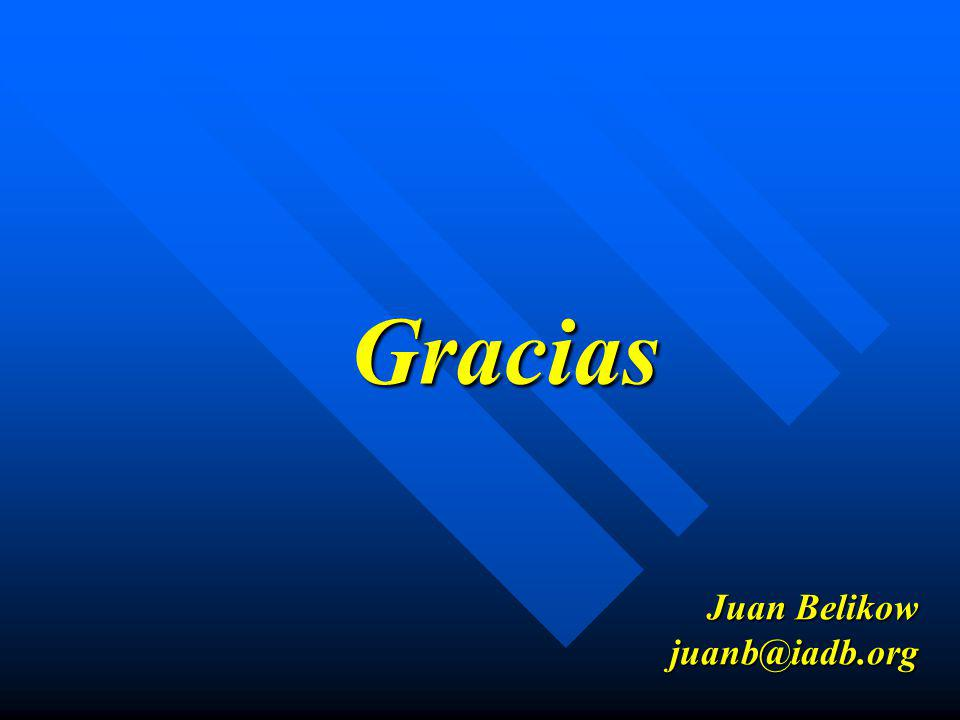 Gracias Juan Belikow juanb@iadb.org