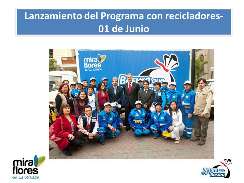 Lanzamiento del Programa con recicladores- 01 de Junio