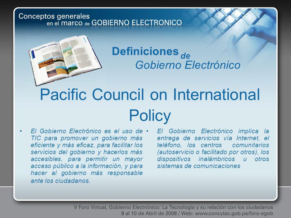 El Gobierno Electrónico es el uso de TIC para promover un gobierno más eficiente y más eficaz, para facilitar los servicios del gobierno y hacerlos má