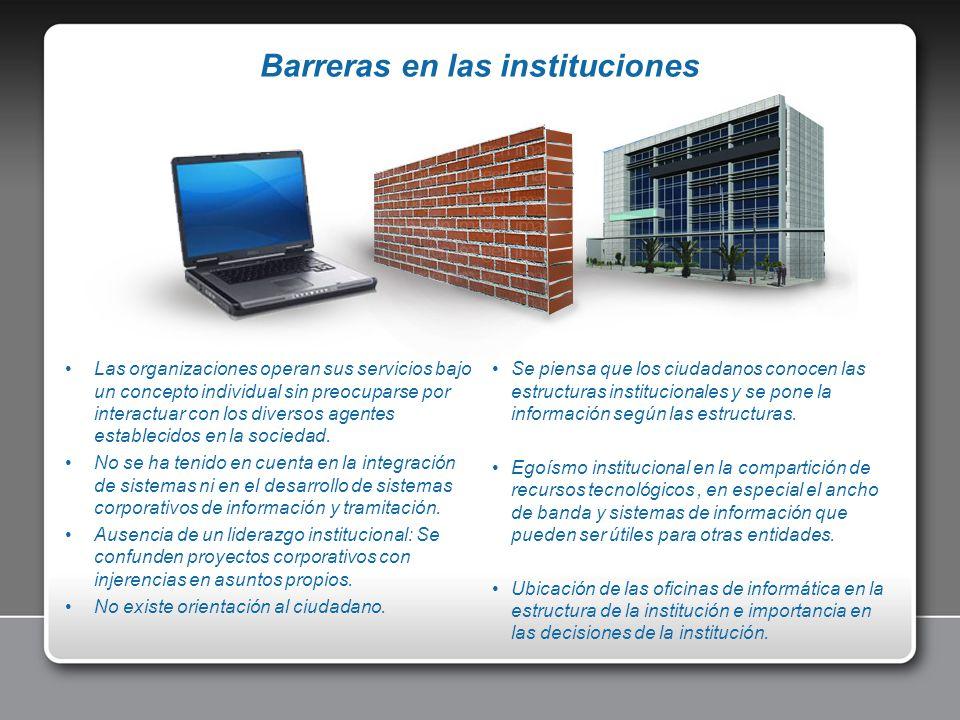 Se piensa que los ciudadanos conocen las estructuras institucionales y se pone la información según las estructuras. Egoísmo institucional en la compa