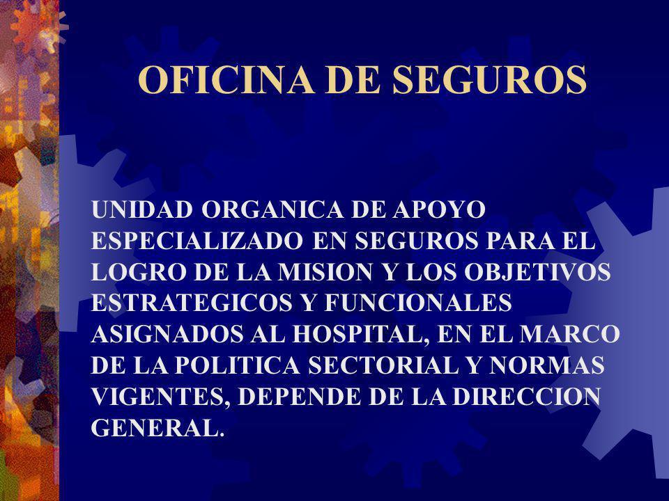 OFICINA DE SEGUROS UNIDAD ORGANICA DE APOYO ESPECIALIZADO EN SEGUROS PARA EL LOGRO DE LA MISION Y LOS OBJETIVOS ESTRATEGICOS Y FUNCIONALES ASIGNADOS A