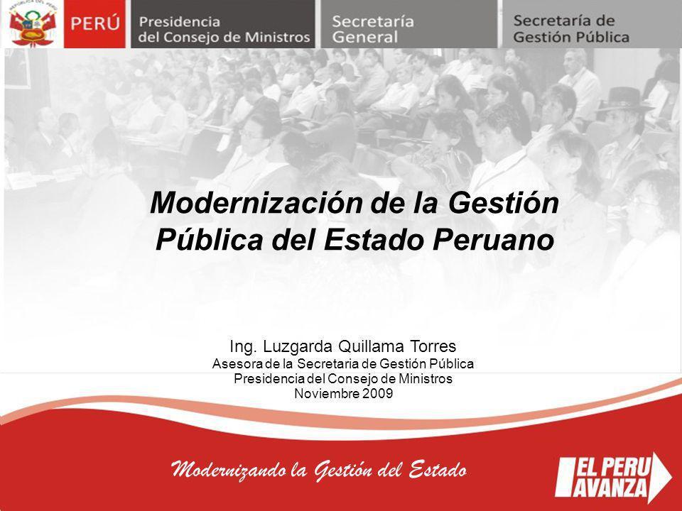 2 Modernizando la Gestión del Estado MARCO DE REFERENCIA CONCEPTUAL