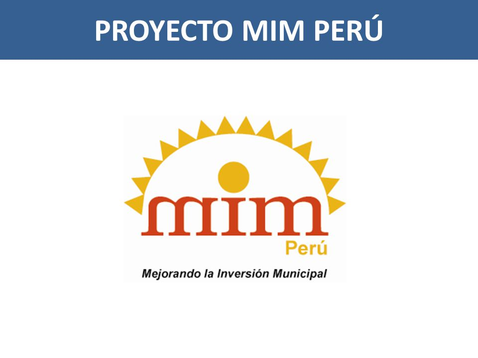 PROYECTO MIM PERÚ
