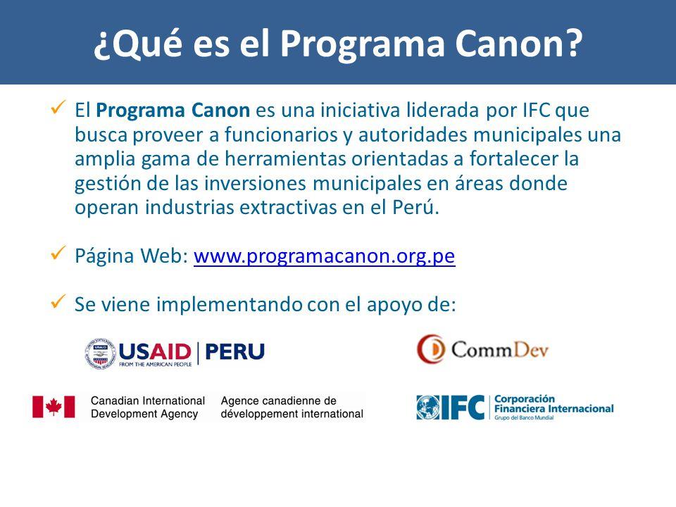 ¿Qué es el Programa Canon.