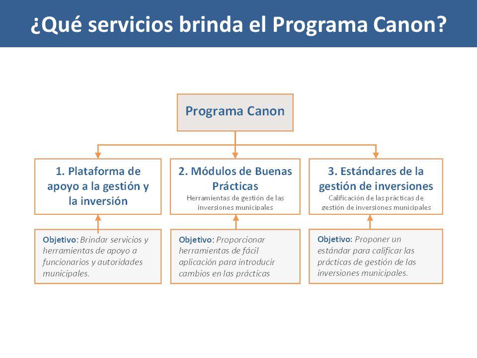 ¿Qué servicios brinda el Programa Canon