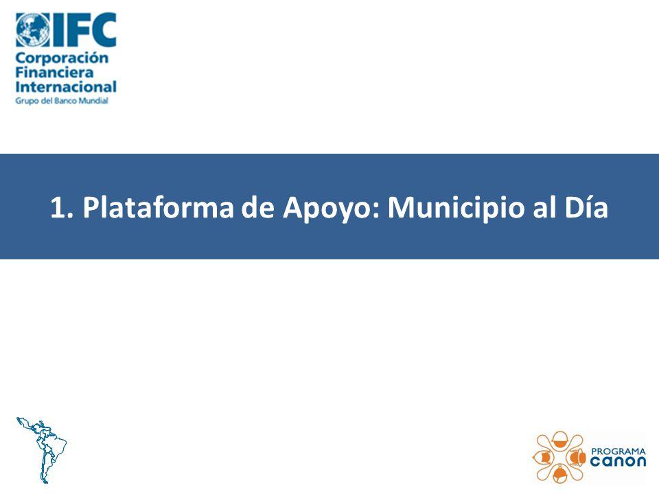 1. Plataforma de Apoyo: Municipio al Día