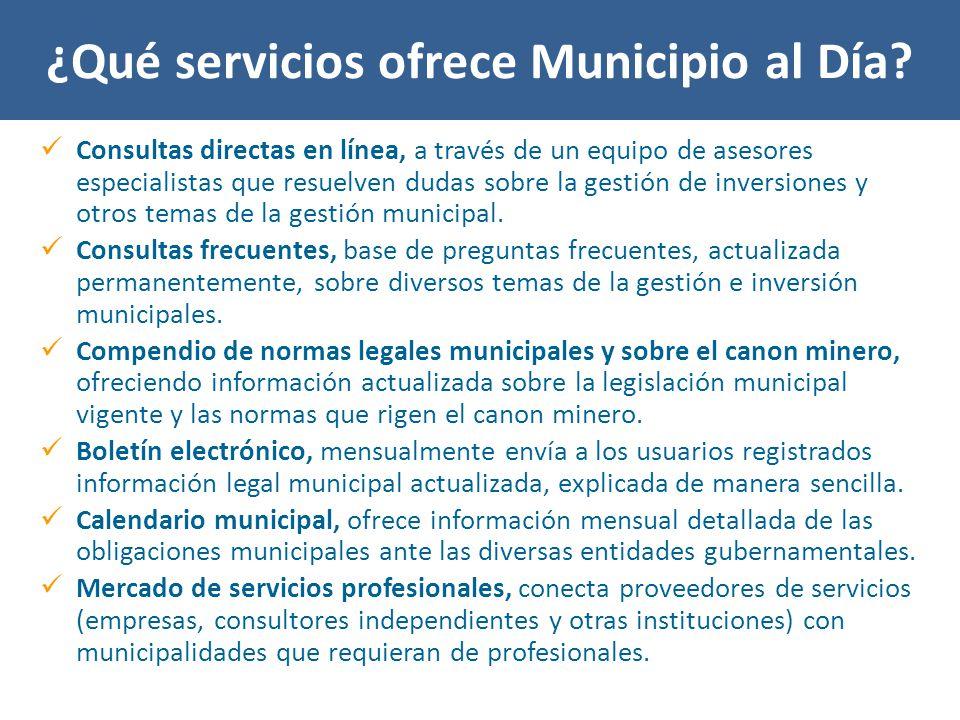 ¿Qué servicios ofrece Municipio al Día.
